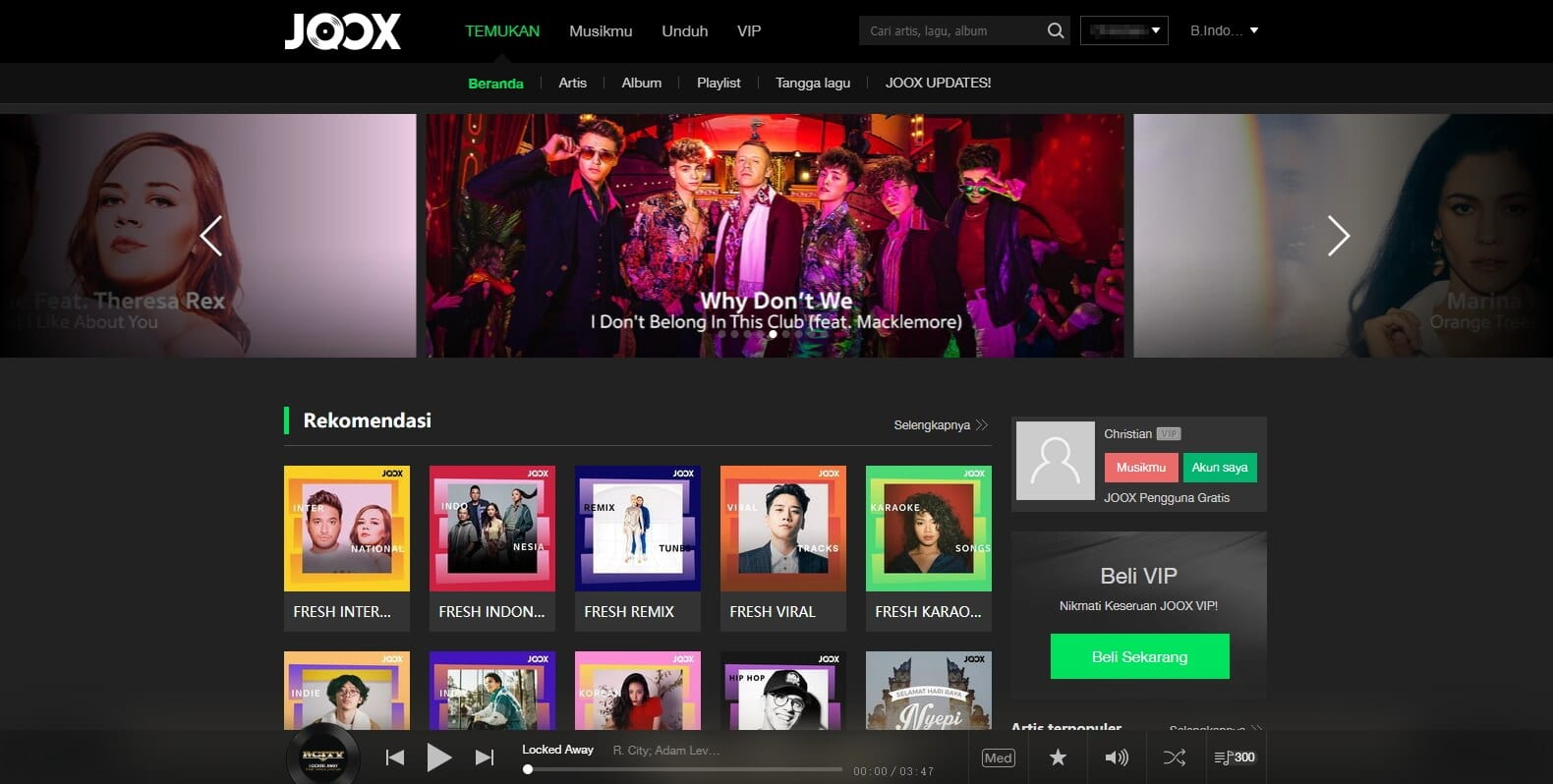 Joox Web Bahasa Indonesia
