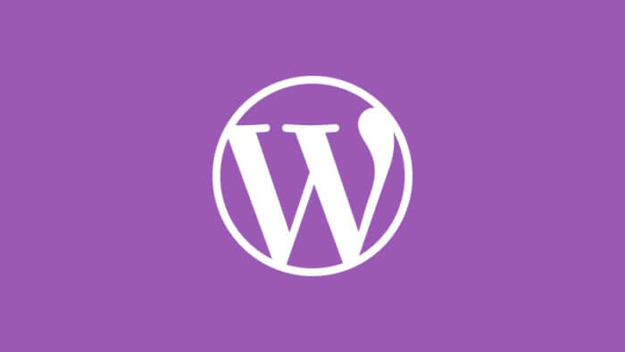 Wordpress logo with purple background