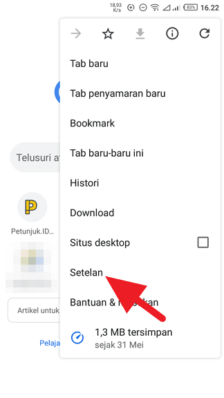 Google Search Android 5 Cara Jadikan Google Sebagai Pencari Default di Chrome Android 2 Google Search Android 5