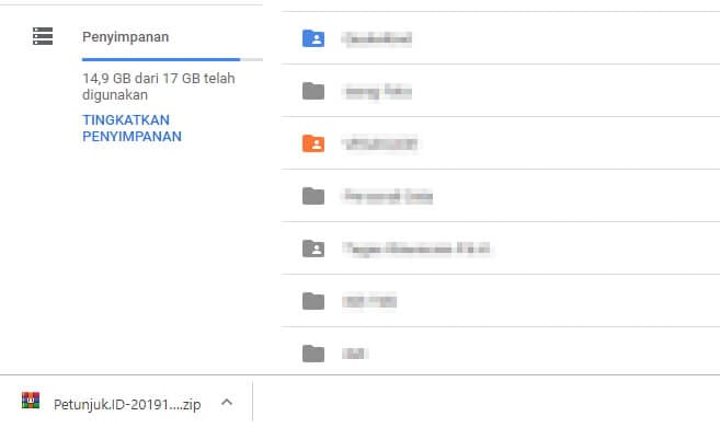 File terdownload 3 Cara Ketahui Ukuran Folder Google Drive 4 File terdownload