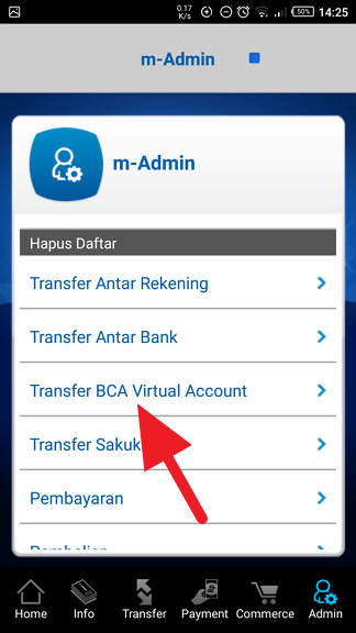 Cara Hapus Daftar Transfer Virtual Account m-BCA 4