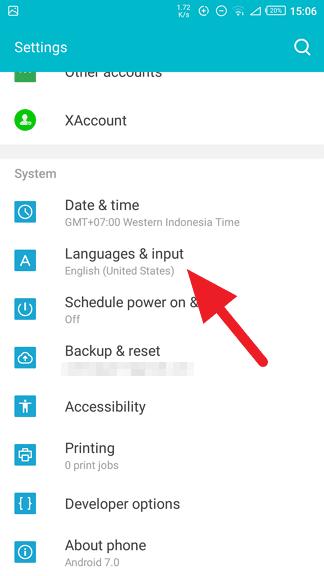 Language settings Cara Ubah Bahasa di Ponsel Infinix ke Indonesia 2 Language settings