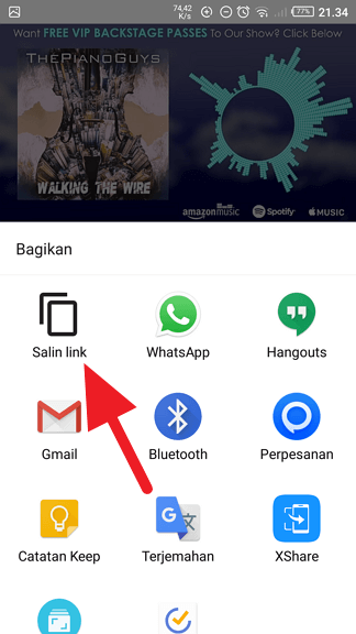 Salin alamat video Cara Copy-Paste Link Video dari Aplikasi Youtube ke Chrome 1 Salin alamat video