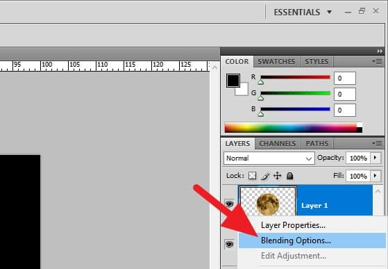 Blending Options... Cara Membuat Objek Tampak Bercahaya di Photoshop 4 Blending Options...