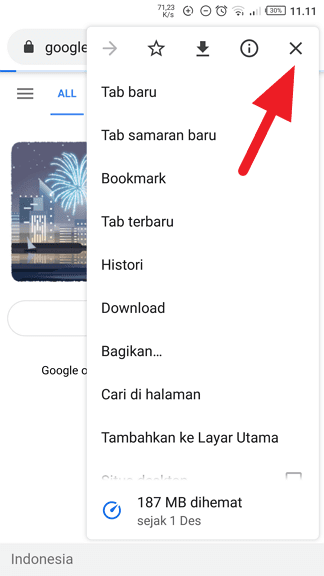 Ikon silang Chrome Cara Stop Loading Website di Google Chrome 3 Ikon silang Chrome