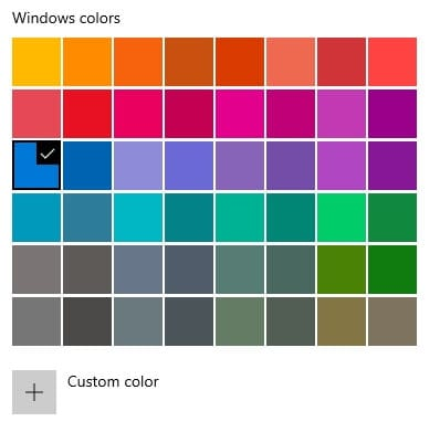 Windows colors Cara Mengganti Warna Taskbar di Windows 10 4 Windows colors