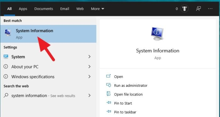 System Information Cara Mengetahui PC/Laptop Windows 10 32-bit atau 64-bit 3 System Information