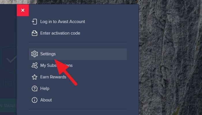 avast settings 1 Cara Matikan Notifikasi Avast PC 3 avast settings 1