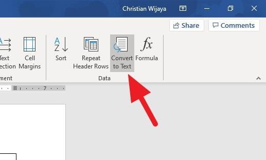 convert to Cara Hilangkan Tabel tanpa Hapus Teks di Microsoft Word 3 convert to