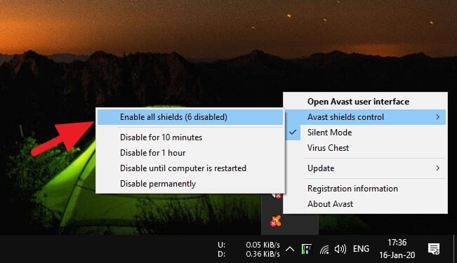 enable all shields 3 Cara Jalankan Program yang Diblokir Avast 5 enable all shields