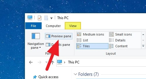 Preview Pane Cara Aktifkan Preview Pane di Windows 10 2 Preview Pane