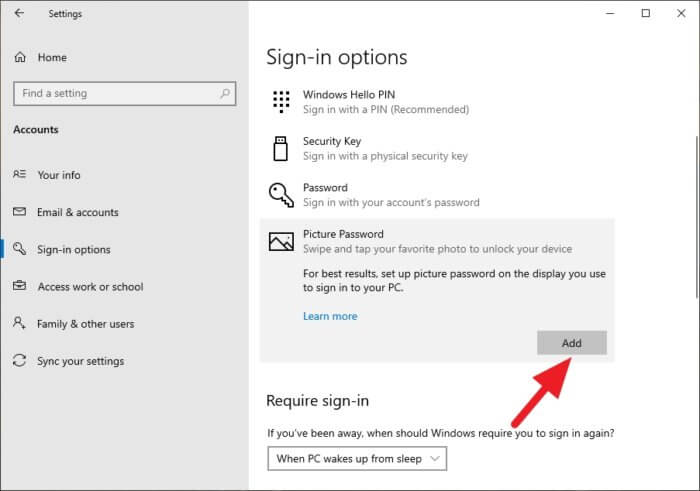 picture password add 2 Cara Aktifkan Picture Password di Windows 10 4 picture password add 2