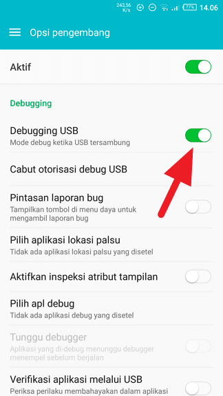 Debugging USB Cara Mudah Restart Android Tanpa Tombol Power 2 Debugging USB