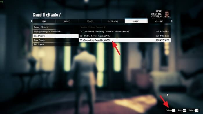 Delete save Cara Mudah Hapus Save Game di GTA V 3 Delete save