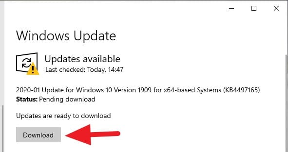Download the update How to Update Windows 10 to the Latest Version with 2 Methods 1 Download the update