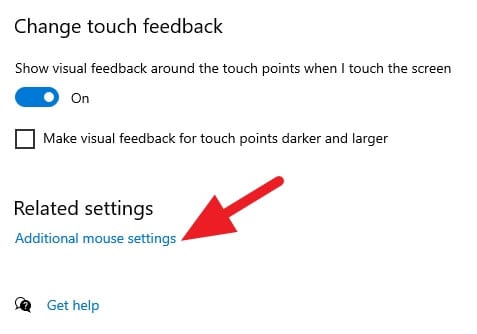 Additional mouse settings Cara Mudah Mengganti Kursor di Windows 10 5 Additional mouse settings