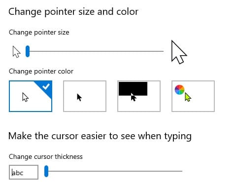 Change pointer color Cara Mudah Mengganti Kursor di Windows 10 4 Change pointer color