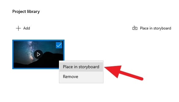 Place in storyboard Cara Memotong Video di Windows 10 Tanpa Aplikasi Tambahan 6 Place in storyboard