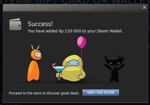 Steam Wallet redeemed Cara Redeem Steam Wallet IDR dengan Mudah 5 Steam Wallet redeemed