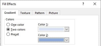 Two colors Cara Mengganti Warna Background Kertas di Microsoft Word 8 Two colors