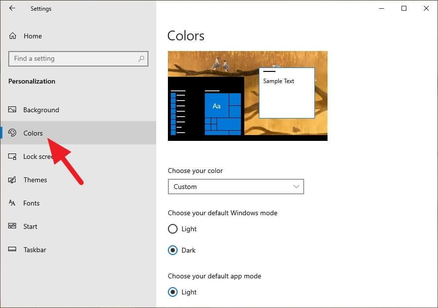 Colors 1 Cara Aktifkan Mode Gelap di Windows 10 3 Colors 1