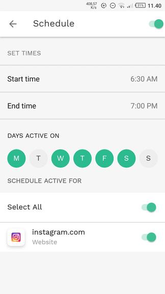 Jadwal Cara Memblokir Situs Tertentu di Android 11 Jadwal