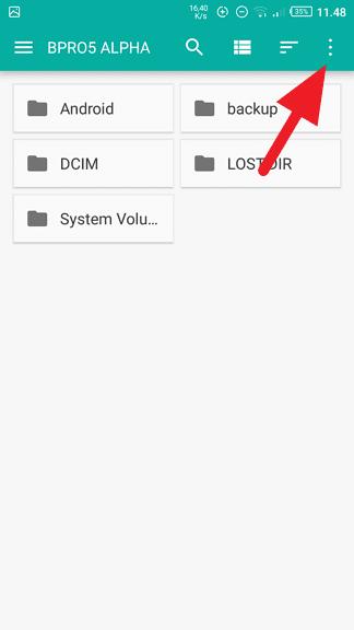 Menu Cara Format Kartu SD di HP Android 3 Menu
