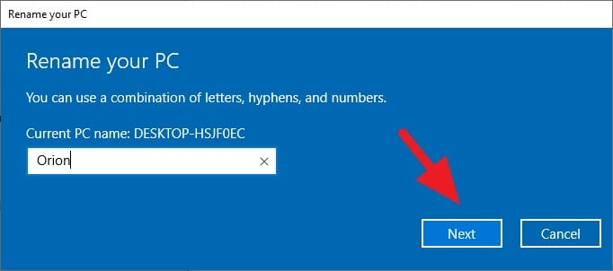 Cara Ganti Nama Laptop/PC di Windows 10 5