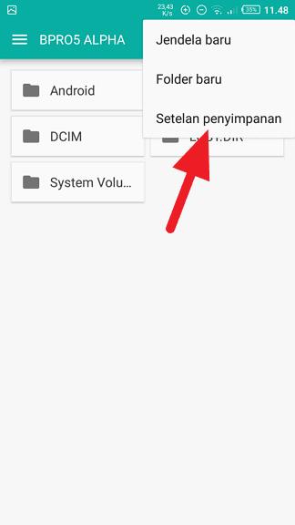 Setelan penyimpanan Cara Format Kartu SD di HP Android 4 Setelan penyimpanan