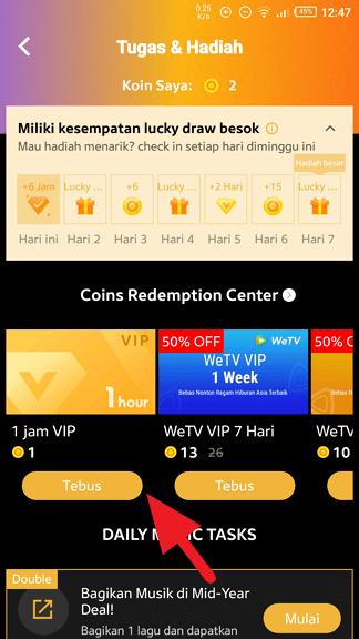 Tebus VIP Cara Dapatkan Joox VIP Gratis 4 Tebus VIP