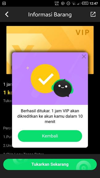 VIP Cara Dapatkan Joox VIP Gratis 5 VIP
