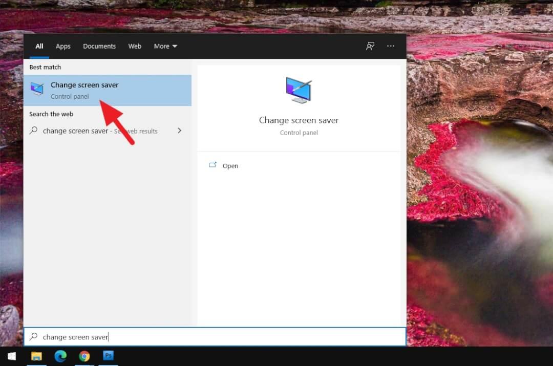 Change screen saver Cara Mengunci Windows Secara Otomatis Ketika Tidak Digunakan 1 Change screen saver