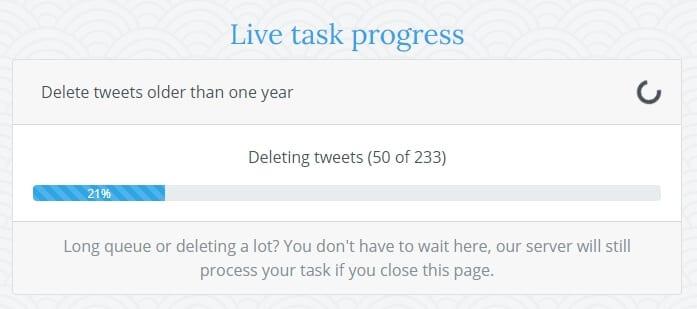 Live task progress Cara Cepat Hapus Semua Tweet di Akun Twitter 4 Live task progress