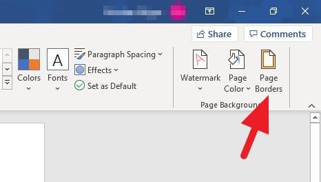 Page borders Cara Membuat Bingkai di Word dengan Cepat 3 Page borders