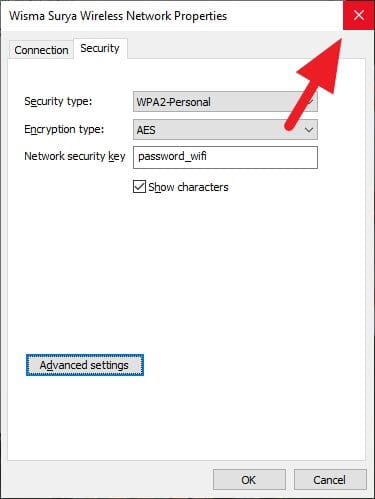 close Cara Melihat Password WiFi yang Terhubung di PC/Laptop 7 close