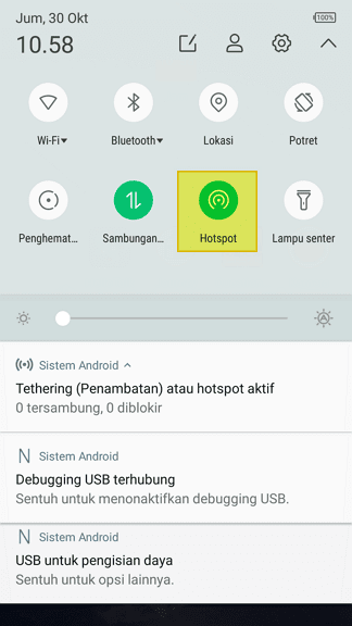 Menu Hotspot Cara Hotspot Android ke Laptop/PC Lewat USB 3 Menu Hotspot