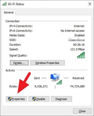 Properties 2 Cara Ganti DNS di PC/Laptop Windows 10 4 Properties 2