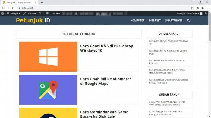 Website Cara Membuat Shortcut Web di Chrome PC 1 Website