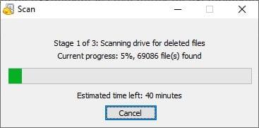 Scan Recuva Cara Menggunakan Recuva untuk Mengembalikan File yang Terhapus 5 Scan Recuva
