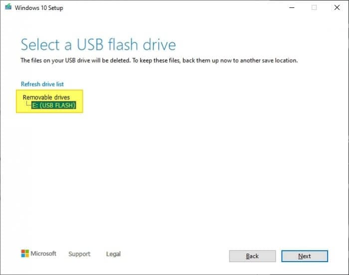Select USB Cara Membuat Bootable Windows 10 di Flash Disk 8 Select USB