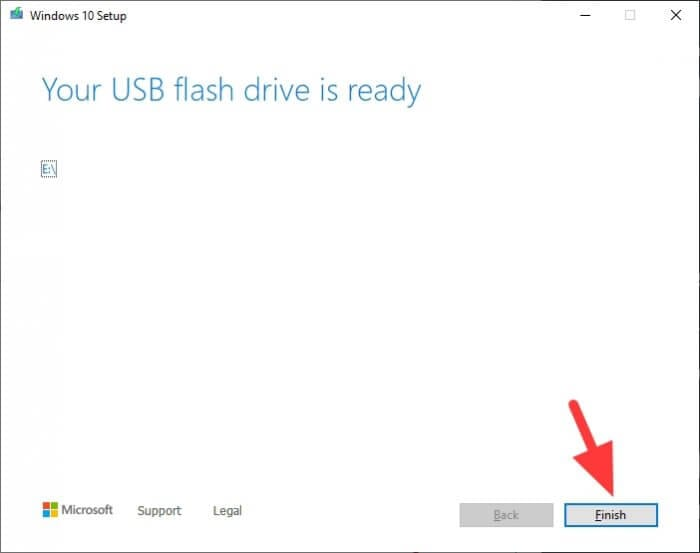 Your USB flash drive is ready Cara Membuat Bootable Windows 10 di Flash Disk 10 Your USB flash drive is ready